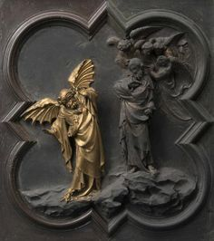 Restoration work reveals Baptistery's North Doors in Florence are gilded Story Of Jacob, Lorenzo Ghiberti, Panning For Gold, Italy Magazine, Grisaille, Sacred Art, Renaissance Art, Architectural Elements, Ancient Art