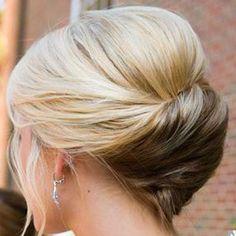 elegant updo for fine hair