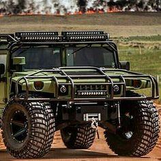 Hummer dressed in green Hummer H1, Hummer Cars, Hummer Truck, Jeep Truck, Toyota Trucks, Diesel Trucks, Custom Trucks, Cool Trucks, Pickup Trucks