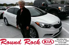#HappyAnniversary to Carol Haseloff on your 2014 #Kia #Forte from Ruth Largaespada at Round Rock Kia!