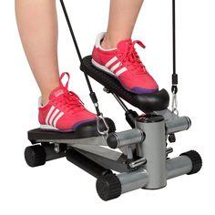 $32.99 Aerobic Step Fitness Air Stair Climber Stepper Exercise Machine Equipment Silver dealfomo
