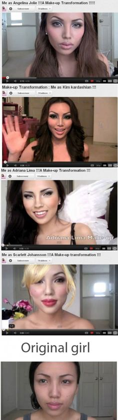 Makeup Transformation This Girl is fricken AMAZING!