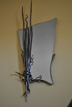 Wrought Iron Wall Mirror by METTLEZFORGE on Etsy,