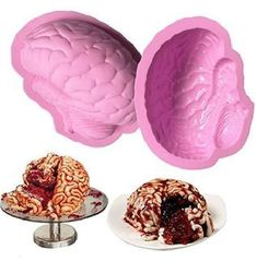 BRAIN Anatomy Silicone MOLD Tray Anatomical Zombie Brains Candle Soap Fondant Food Candy Cake Pops Party Favors Jewelry Cupcake Toppers Art
