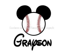 Mickey Mouse Baseball Shirt  Family Vacation  by GoodnessGraceShop
