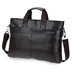 Leather Men Messenger Bags Business Laptop Briefcase Handbag