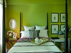 Bright Green Bedroom Coloring