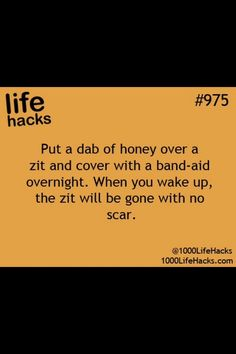 Get Rid Of Zits OVERNIGHT!! All Natural! Gotta try this!