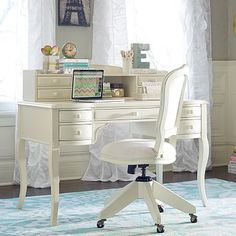 Lilac Desk & Hutch #pbteen