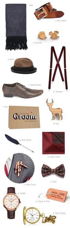 15 Stylish Groom Accessories for a Fall Wedding on weddingsonline.ie [Links to products in post]