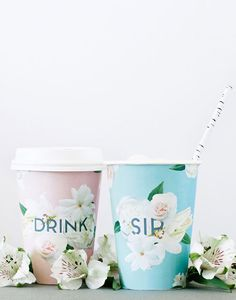 drink & sip cup wrap DIY via a subtle revelry