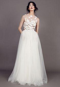vestido novia mariposas