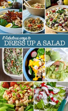 Pinterest Salad Recipes - easy ways to dress up a salad