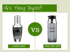 Are they dupes?: lancome advanced genefique concentrate vs l'oreal youth code serum