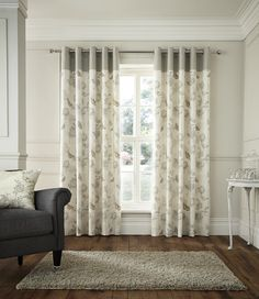 Sentiment Eyelet Curtains Natural | Eyelet Curtains | Windows | Ponden Homes