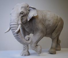 Small Sculptures, Animal Sculptures, Sculpture Art, Elephant Images, Elephant Art, Blue Whale Drawing, Elephant Anatomy, 3d Figures, Creature Drawings