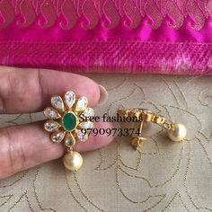 Gold Bar Earrings, Jewelry Design Earrings, Gold Earrings Designs, Necklace Designs, Jewlery, Gold Necklace, Gold Bangles Design, Gold Jewellery Design, Gold Jewelry Simple