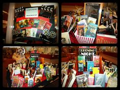 Books to Movies Table Top Display!  Includes a listing of Movies coming out in 2013.  Party store decorations keep costs down.  Fake popcorn can be colored styrofoam or crumbled paper. ~NHS Library, UT