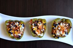 Recipe: Sante Fe Stuffed Peppers. 8 out of 10. I used ground chuck instead of turkey. I also bought microwaveable brown rice and added it to the mix. Did not use tomatoes. Tyler doesn't like them! Forgot cilantro but it didn't make that big of a difference. A very tasty dish I will be making again!
