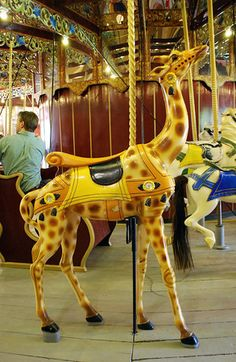 A giraffe on the Port Dalhousie Carousel. A great photo post of sights from around Niagara