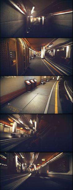 Sci fi Train Station:
