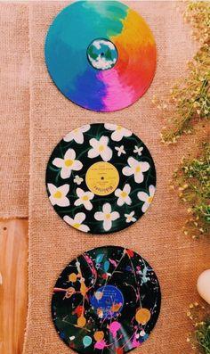32 best inspiring cute DIY design ideas inspire - Effektive Bilder, d Vinyl Record Art, Vinyl Art, Vinyl Records Decor, Record Decor, Aesthetic Room Decor, Aesthetic Art, Aesthetic Bedrooms, Aesthetic Drawings, Aesthetic Black