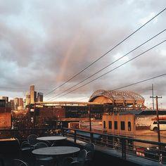 Sodo rain sunset double rainbow trifecta. #likeakidagain #pnw #vsco #sodo #northbynorthwest #seattle #washingtonstate