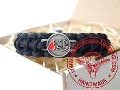 ARMBAND BLUTGRUPPE AB RH - / BRACELET BLOOD TYPE AB RH - Belt, Bracelets, Blood, Accessories, Wristlets, Belts, Bracelet, Arm Bracelets, Bangle