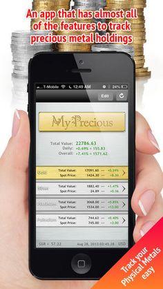 Gold and Silver Spot Market Vault Calculator by MW Sheppard LLC