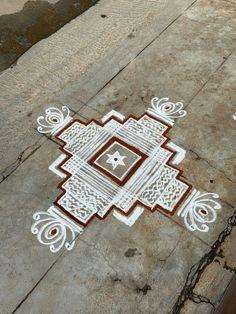 Rangoli Designs Flower, Rangoli Kolam Designs, Rangoli Ideas, Rangoli Designs Images, Beautiful Rangoli Designs, Small Rangoli, Rangoli With Dots, Diwali Rangoli, Easy Rangoli
