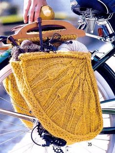 Dutch bike style knitted bags!