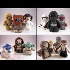 I need to learn how to crochet so I can make these! (the patterns are for sale on etsy)