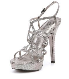 7822c9afa249 Adrianna Papell Miranda Rhinestone Embellished Fabric Dress Sandals