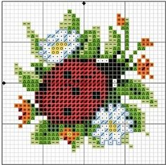 cross stitch chart - would make cute pillow