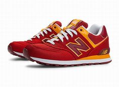 Joes New Balance 574 WL574PPR Red Yellow Passport Womens Shoes