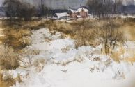 Snow Field Watercolors, Snow, Sculpture, Artist, Prints, Painting, Outdoor, Outdoors, Water Colors
