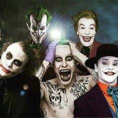Each amazing in their own unique way. but Jack Nicholson will always be my Joker Joker Batman, Batman Y Robin, Joker Heath, Gotham Batman, Batman Art, Jack Nicholson, Der Joker, Joker Und Harley Quinn, Dc Movies