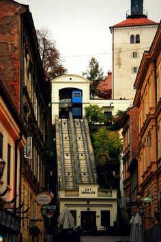 Funicular for Upper City (Gornji Grad) is the oldest transportation system of organized public transit system in Zagreb, Croatia.