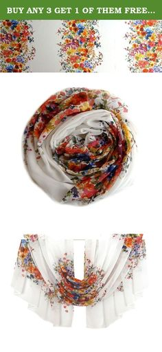 BUY ANY 3 GET 1 OF THEM FREE, Bright Flowers Scarf, Chiffon Scarf, Print Scarf, Silk Scarf, Floral Scarf, Spring Scarf, Summer Scarf, Pattern Scarf, Trending Items,. Size: 56 inch / 28,7 inch (142 cm. / 73 cm.) This universal scarf can be worn like a bandage, bandana, pareo, necklace. Light and weightless flying in the wind and gives extraordinary beauty and mystery at any time of the year.
