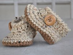 Baby Boy Angel Booties