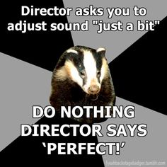 backstage badger - baha every time!