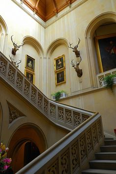 Scotland - Dunrobin Castle Staircase by Andrew Hounslea, via Flickr