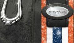 NFL Jewelry and NFL Handbags - Denver Broncos Women's Mile High City Chic Handbag - detail