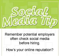 Remember potential employers often check social media before hiring. How's your online reputation? ‪#‎Weblinkindia‬ ‪#‎OnlineReputationManagement‬ ‪#‎SocialMedia‬