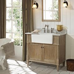 Bathroom Vanity Woodworking Plans Best Of Fairmont Designs Rustic Chic Farmhouse Vanity Weathered Oak Inexpensive Bathroom Vanity, Oak Bathroom Vanity, Rustic Bathroom Vanities, Rustic Bathrooms, Wood Bathroom, Vanity Sink, Bathroom Furniture, Wood Vanity, Brown Bathroom