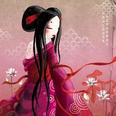 Misstigri, geisha, burgundy