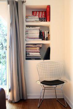 Bertoia chair + books