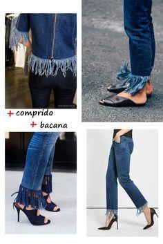 Atualize seu jeans com barra desfiada.