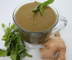 Got tummy troubles? Try this Mint-Ginger Smoothie from the recipe app, Vegan Delish | www.vegandelish.com.