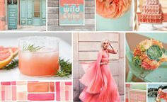 coral and aqua = two of my favorite colors ever!